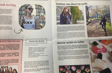 Maak je eigen krant fashion blog - Happiedays
