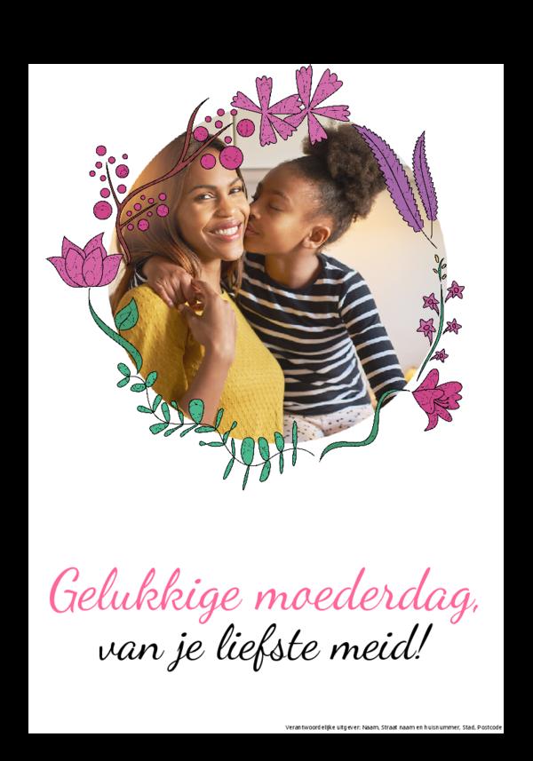 Maak je eigen krant sjabloon moederdag | Happiedays