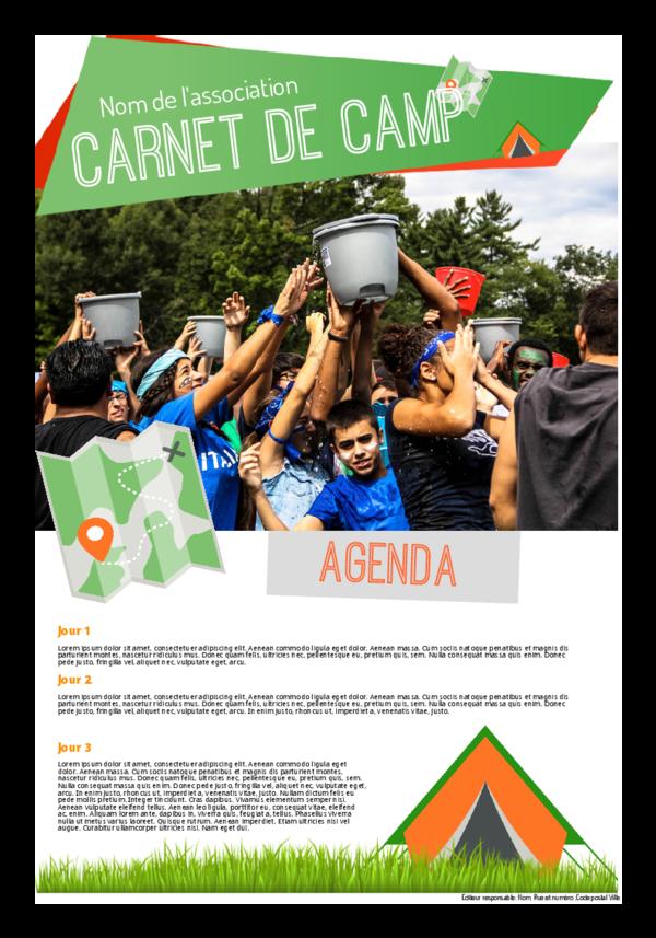 Créez votre propre journal modèle camp scout | Happiedays