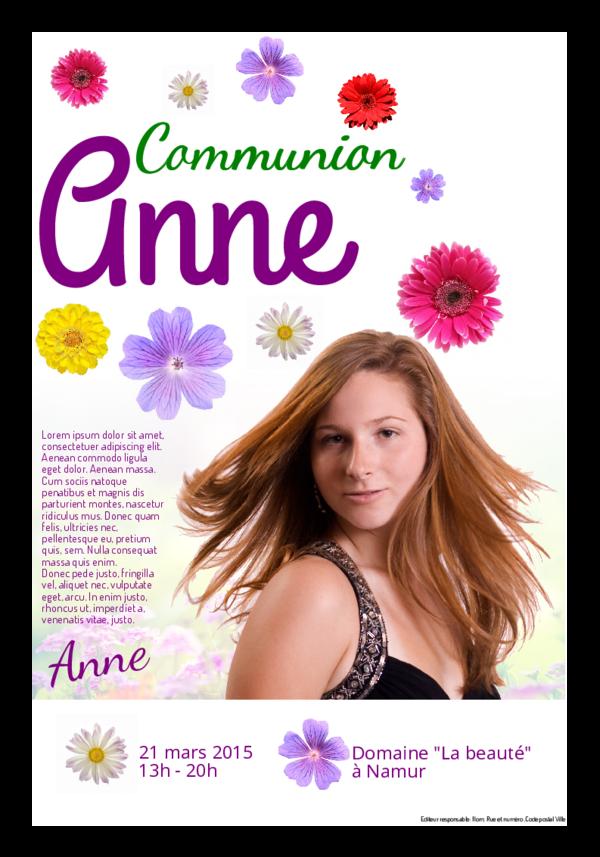Créez votre propre journal modèle journal de communion remerciements | Happiedays