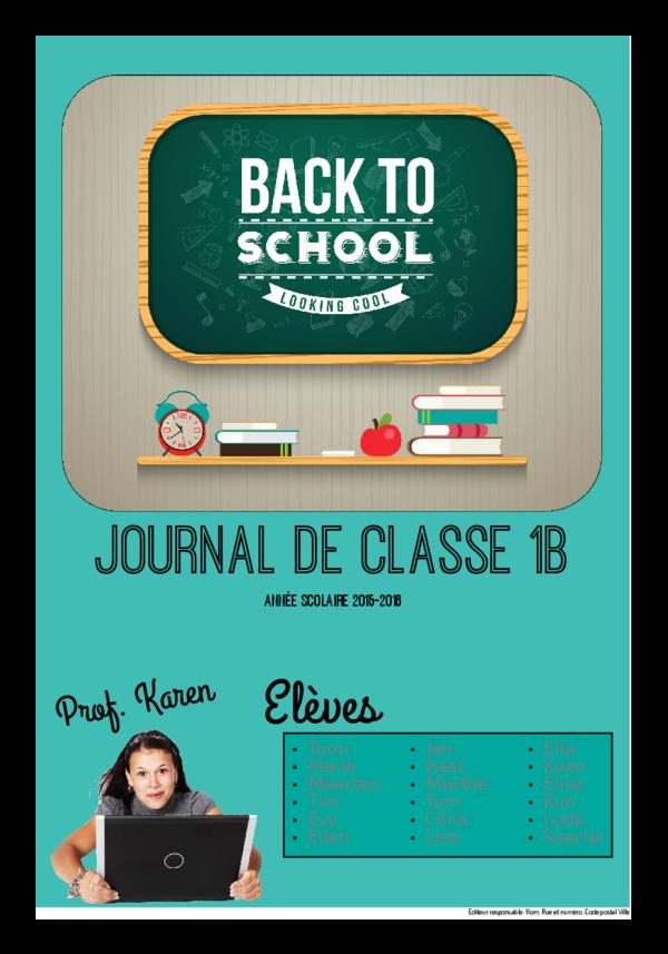 Créez votre propre journal modèle début d'année scolaire | Happiedays