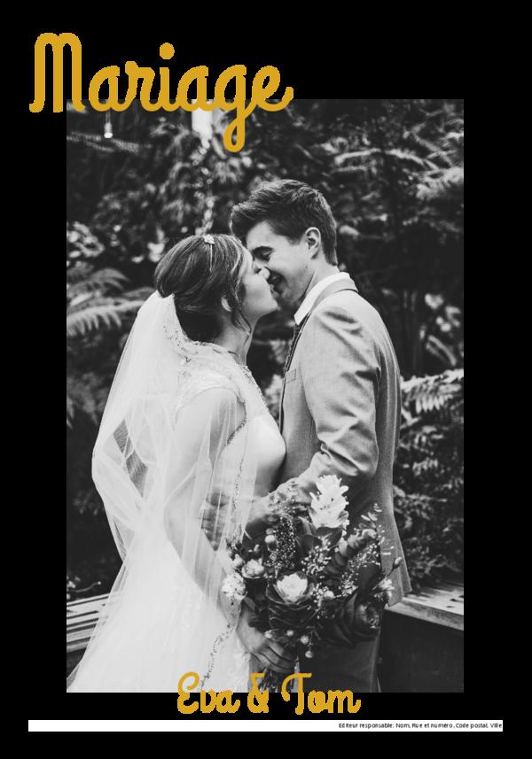 Créez votre propre journal modèle mariage | Happiedays