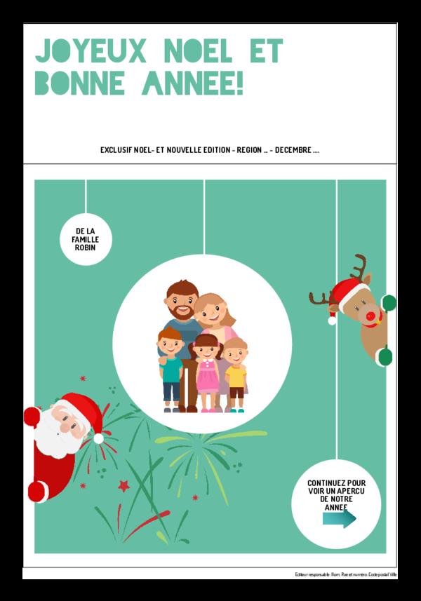 Créez votre propre journal modèle journal Noël - Nouvel an| Happiedays