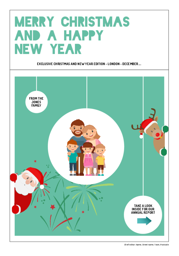 make a newspaper newspaper template christmas and new year - happiedays