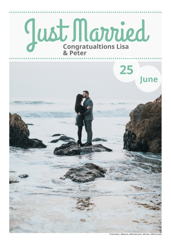 make a newspaper newspaper template wedding - happiedays