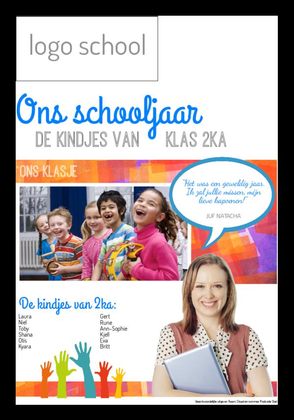 Maak je eigen krant sjabloon klaskrant einde schooljaar | Happiedays