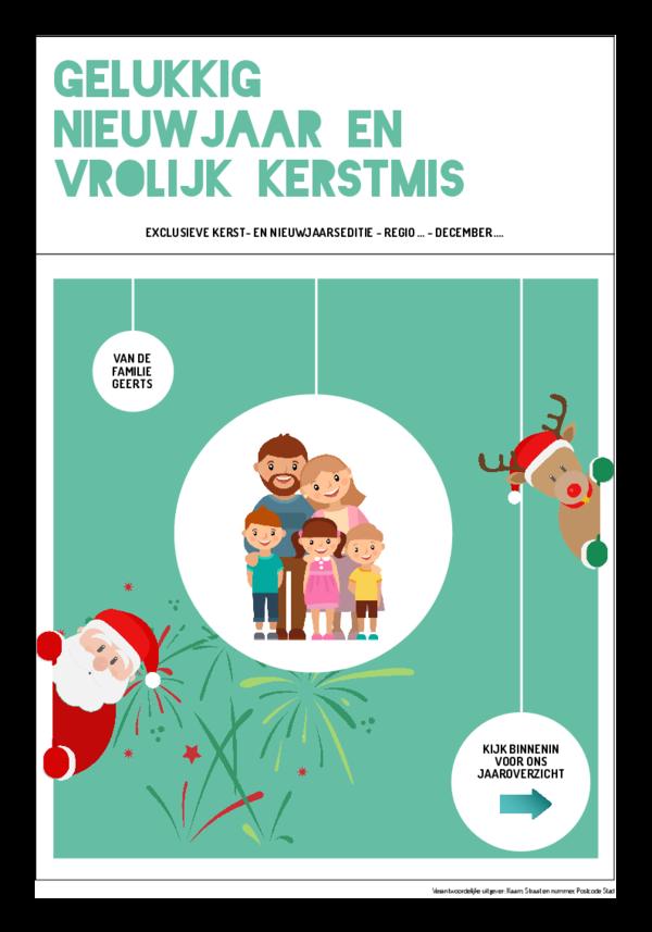 Maak je eigen krant sjabloon kerst- en nieuwjaarswensen krant | Happiedays