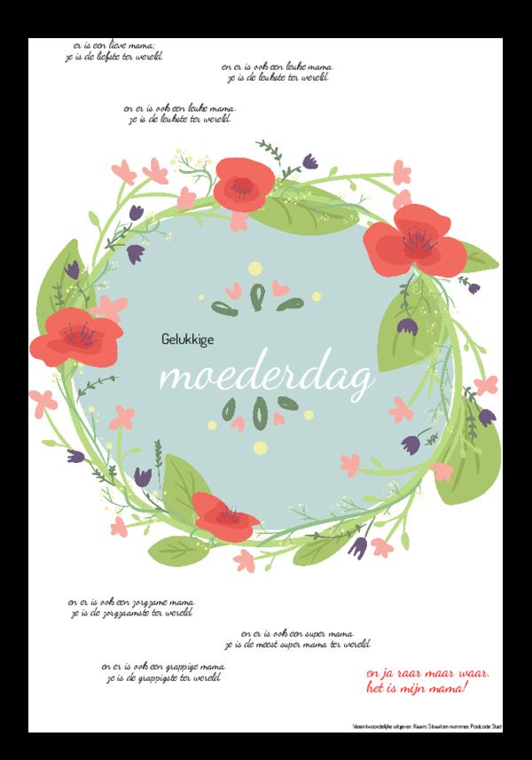 Maak je eigen krant sjabloon moederdagkrant   Happiedays