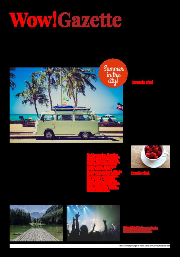 Maak je eigen krant sjabloon vakantiekrant | Happiedays