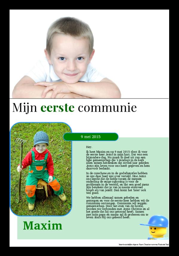 eerste communie krant