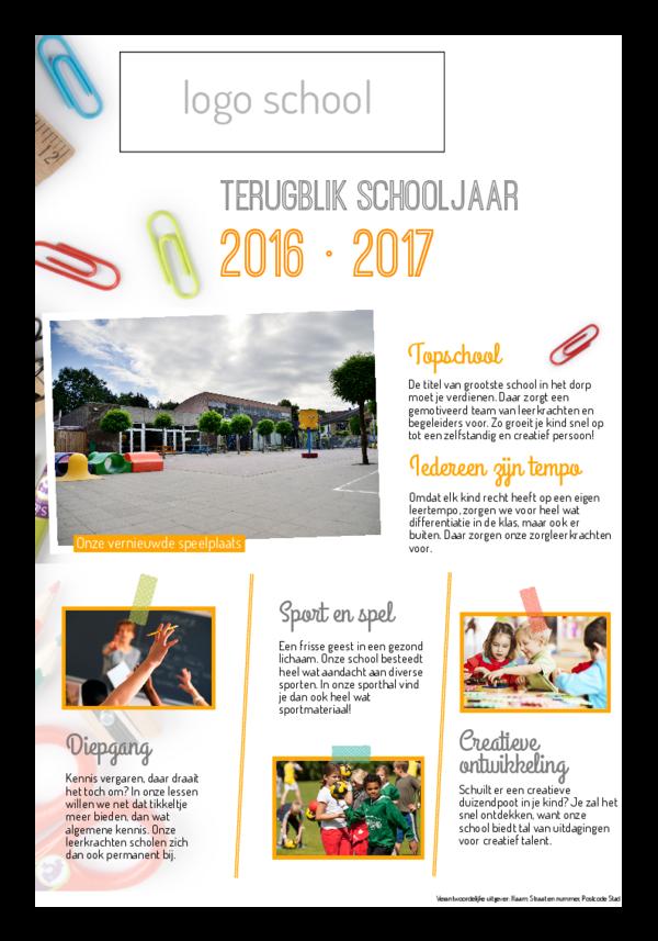 terugblik schooljaar krant